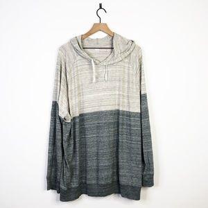 Old Navy Heather Grey Hooded Thin Sweatshirt XXXL